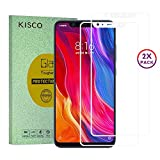 KISCO for XiaoMi Mi 8 Screen Protector,2 Pack Full Coverage Shatterproof Tempered Glass Screen Protector Anti-Shatter Film Protectors for XiaoMi Mi 8-White