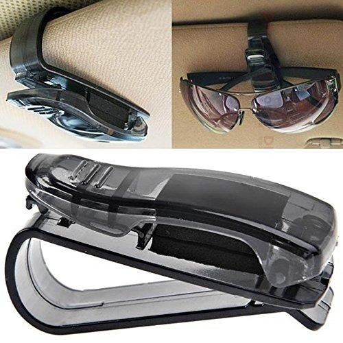 samLIKE Auto Sonnenblende Brillen Sonnenbrille Ticket Quittungskarte Clip Lagerung Halter (Schwarz)