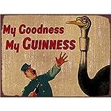 FlowerBeads Vintage Bière Plaque de signalisation, Man Cave Home Pub Cafe Bar Décor Poster Plaque Cadeau-My Goodness My Guinness 30,5x 20,3cm