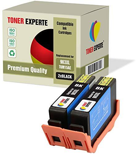 2 XL TONER EXPERTE Sostituzione per HP 903 903XL T6M15AE Cartucce d'inchiostro compatibili con HP Officejet Pro 6950 6960 6970 6975 (2 Nero)