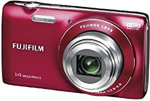 Fujifilm FinePix JZ100 14MP Point and Shoot Camera (Red) with 8x Optical Zoom, Memory Card and Camera Case