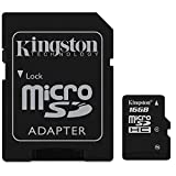 Kingston 16GB Micro SDHC Memory Card Flash Card With SD Card Adapter TF HC MicroSD For Cell Phone Tablet PC HD Camera PDA Smart Phones MP3 Players + iSOUL® Mobile Case / Cover