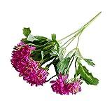 Momangel 1Bouquet Künstliche Chrysantheme Kunststoff Fake Blumen Bouquet Home Decor, Rosarot, Einheitsgröße