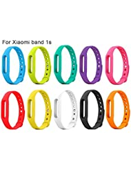 iMounTop Mi Band Silikon Ersatz Armband Bracelet Schnalle mit Klammer Clasp für Xiaomi miband Mi Band 1s / Bluetooth 4.0 IP 67 Armband
