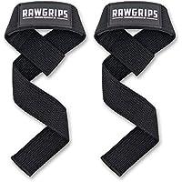 RAWGRIPS Zughilfen - 2er Set Zughilfe für Krafttraining & Bodybuilding - Hochwertige Zugbänder für bessere Trainingsleistungen - Extra gepolsterte Lifting Straps | Greifhilfen | Latzughilfe