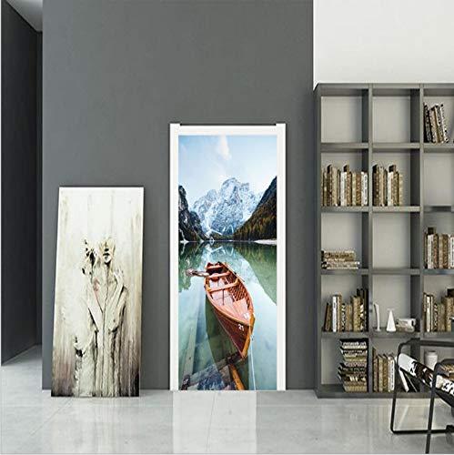 132a32337ef68 Thai Scenery 3D Door Sticker,3D Wall Fridge Sticker Decal Art Decor  Removable Waterproof Mural Poster Scene Window Door 77Cmx200Cm