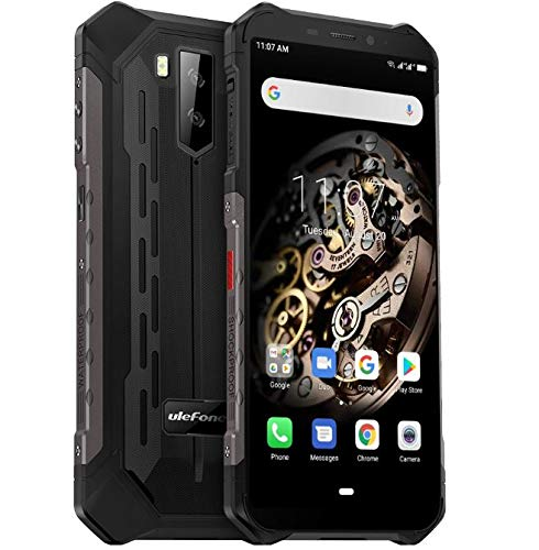 "Ulefone Armor X5 - 4G Outdoor Smartphone Ohne Vertrag, MTK6763 Octa-Core 3GB RAM 32GB ROM, Android 9.0 5.5"" IP68 / IP69K Robustes Handy, Dual-SIM, 13MP + 5MP + 2MP, 5000 mAh Akku, GPS NFC Schwarz"