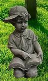 Massiver Junge 44cm aus Beton 17kg Steinfiguren Garten Figur Statue Deko
