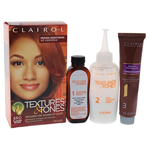 Clairol Coloration hydratante permanente Textures & Tones - Sans ammoniaque - Couleur 8RO - Flaming Desire