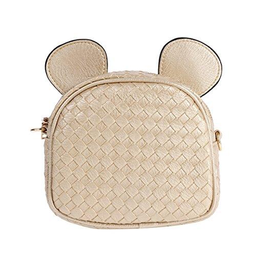 Damara Ladies Raster Mickey Motivo Borse A Tracolla Piccole, Kaki Kaki