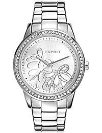 Esprit Damen Armbanduhr Datum klassisch Quarz Edelstahl ES108122004