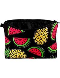 Kulturbeutel Kulturtasche Schminktasche Kosmetiktasche von Alsino, Variante wählen:KT-54 Melone Ananas