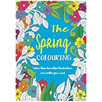 Bargain Gateway Adult Relaxing A4 Colour Therapy - The Spring Colouring Book
