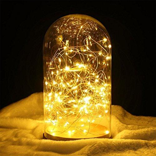 Wokee 1 Satz Lampe wasserdicht 100 LED Lichterketten 33ft Kupferdraht Firefly - Fee-bett-satz