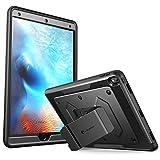 iPad Pro 10,5 Zoll Hülle, i-Blason [Armorbox] iPad Schutzhülle Heavy Duty iPad Cover Dual Laye Hybrid Ganzkörper-Schutz Case mit Ständer und eingebauter Displayschutzfolie 2017, Schwarz