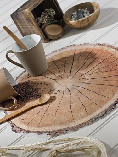 CALITEX Set de 6 Tables Rond, PVC, Marron, 38x38 cm