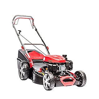 AL-KO Benzinrasenmäher Classic 5.18 SP-A Plus (51 cm Schnittbreite, 2.1 kW Motorleistung, Stahlblech-Gehäuse, Schnitthöhe 30-80 mm, für Flächen bis 1800 m²)