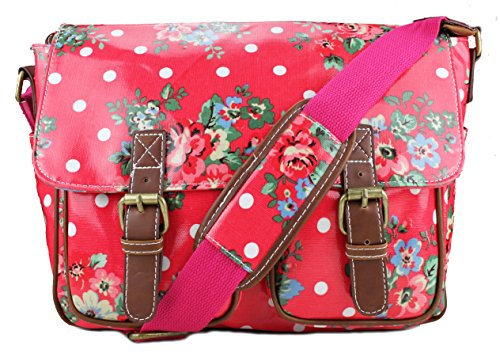 Miss Lulu, Borsa a spalla donna Medium (Medium Flower Plum)
