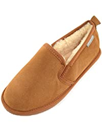 SNUGRUGS Henley, Sheepskin Slipper With Rubber Sole, Chaussons homme