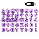 Ausstechformen - Buchstaben, Zahlen und Zeichen 40-teilig