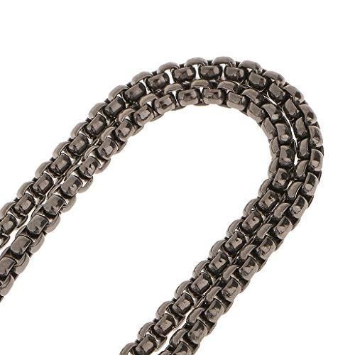 Sharplace Rucksack Riemen Metall Schulterriemen Glänzende Metallkette fuer Damen Handtasche /Umhängetasche / Tasche Geldbörse Grau