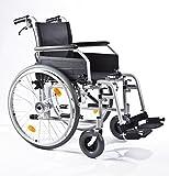 Besco medical - Primus MS 2.0 - Rollstuhl - Transportrollstuhl - Reiserollstuhl - in 7 Größen - Leicht, Faltbar, Sitzhöhe verstellbar, mit und ohne Trommelbremse ( Sitzbreite 46 cm )