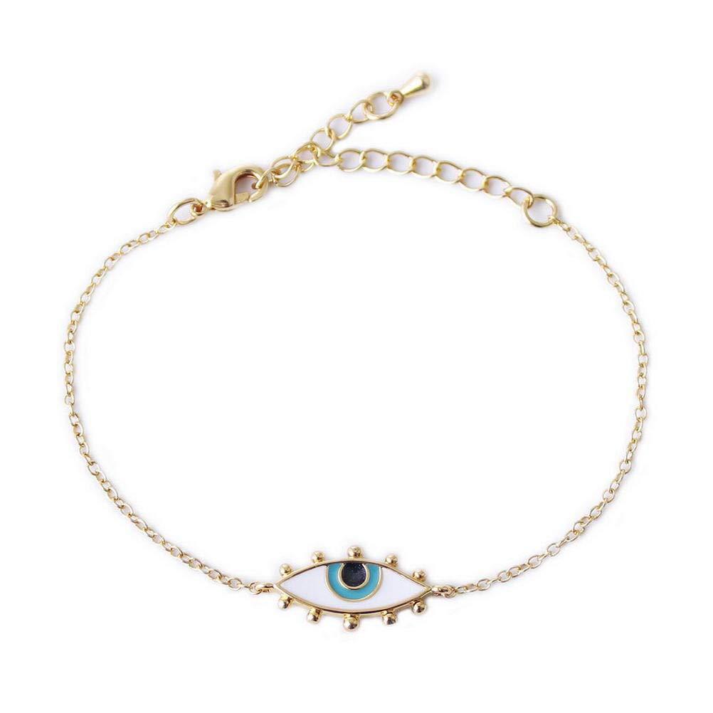 WMAOT 18k Gold Plated Spiritual Judaica Kabbalah Jewish Turkish Luck Charm Greek Evil Blue EyeJewelry Ruby Epoxy Bracelet/ Earrings/ Necklace/ Ring (Ring-JDR02)