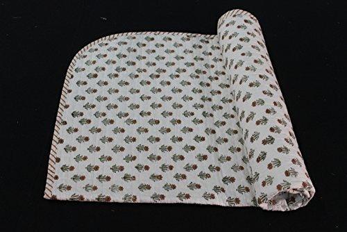 Mano Blocco Stampa Cotone Baby Trapunta stampa floreale colorato coperta 2