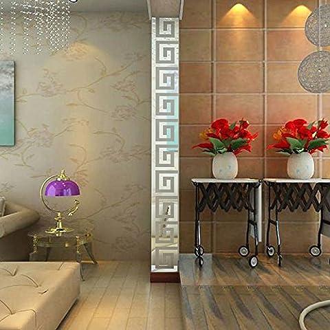 3D Miroir Stickers muraux, Yogogo 10/32 pièces Acrylique moderne Plastique Miroir Autocollant DIY Ar-hall Chambre