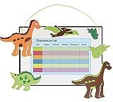 Unbekannt Bastelset Stundenplan - Schule / Schulplaner für Schulstunden - Dinosaurier Tier grün weiß Junge