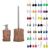 Premium Badezimmer Set | große Auswahl | Seifenspender mit Passender WC Bürste | hochwertige Qualität | schöne Designs (Old Tree Set)
