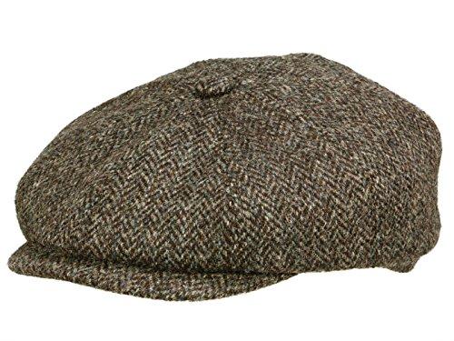 Hatteras Harris Tweed Newsy Cap Ballonmütze Flatcap Schirmmütze Wollcap...