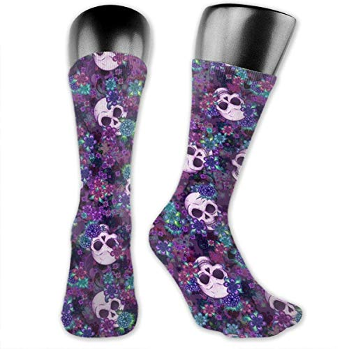 HiExotic Strümpfe Breathable Black and Blue Neon Lights Tube Socks Over Exotic Psychedelic Print Compression High Tube Thigh Boot Stockings Knee High Women Girl