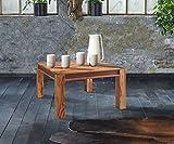 Wolf Möbel Wohnzimmertisch Shan Sheesham Shina 80x80 cm Maserung Massivholz Couchtisch