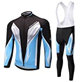 Skysper Abbigliamento Ciclismo Set Abbigliamento sportivo per bicicletta Maglia manica lunga+Pantaloni lunghi