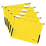 Herlitz 5874755 Hängetasche, seitlich geschlossen, Organisationsdruck, farbig sortiert (Hängetaschen, Gelb, 20)