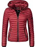 Marikoo Damen Übergangs-Jacke Jacke Steppjacke Samtpfote Granit Red Gr. L