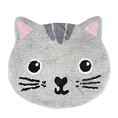 Sass & Belle NORI CAT KAWAII FRIENDS RUG Grey - low-cost UK light store.