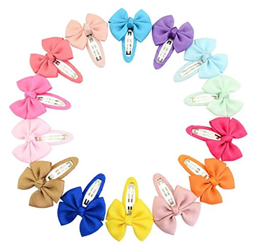 Huyizhi Zubehör für Mädchen 20PCS Säuglingshaarnadel-Mode-Mädchen-Haar-Bogen-Klipp-Nette Haarspangen