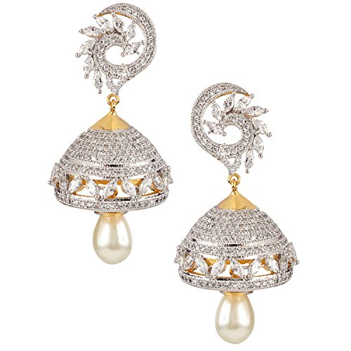 swasti-jewels-bollywood-style-zircon-cz-jhumka-earrings-with-dangling-pearls-for-women-2