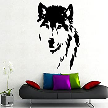 This Item Wall Decals Wolf Dog Animals Fashion Bedroom Bathroom Vinyl Sticker Wall Decor Murals Wall Decal