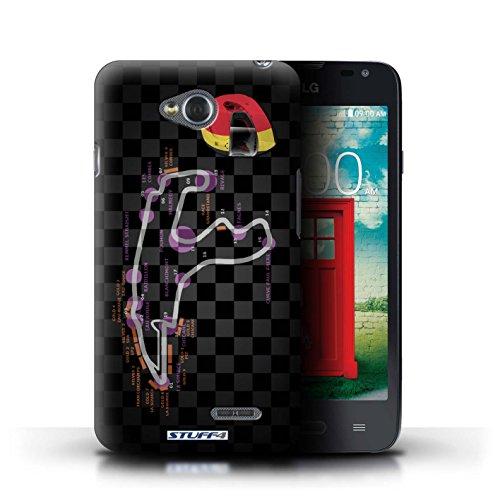 Kobalt® Imprimé Etui / Coque pour LG L65/D280 / USA/Austin conception / Série 2014 F1 Piste Belgique/Spa