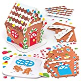 Baker Ross Gingerbread Foam House Kits (Pack Of 2) For Kids Christmas Crafts