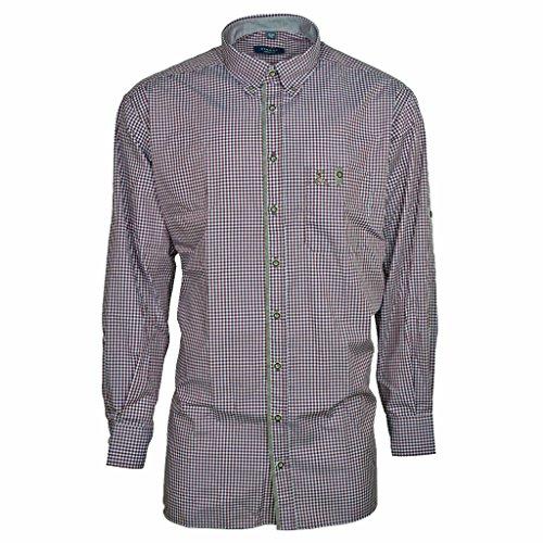 Preisvergleich Produktbild Eterna Herrenhemd Herren Hemd Trachtenhemd Freizeithemd Langarm Comfort Fit Rot Weiß kariert Gr. XL/44
