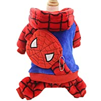 SCJ Pet clothes thick flannel clothing on all kilts autumn and winter warm cartoon gold classic classic cute clothes dog cat clothes red blue_XS