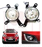 #9: RedClub presents clear colour Fog light for Chevrolet Spark with FREE pair of Blind Spot Mirrors and complementary RedClub Pen