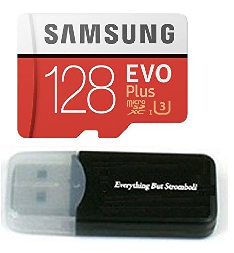 128GB Samsung Evo Plus Micro SDXC Class 10 UHS-1 128G Memory Card for Samsung Galaxy S8, S8+ Plus, S7, S7 Edge, S5 Active Cell Phone with Everything But Stromboli Card Reader (MB-MC128D)