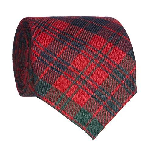 Lochcarron Tartan Reiver Tie Ross Modern Red