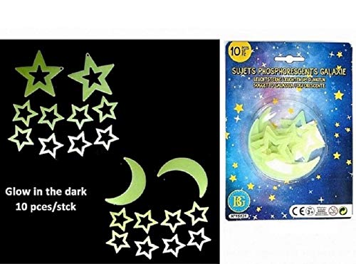 bg 10 Deco PHOSPHORESCENTES Galaxy Stars MONDKLEBSTOFFE LEUCHTEN IN SCHWARZ (Deco-leuchten)