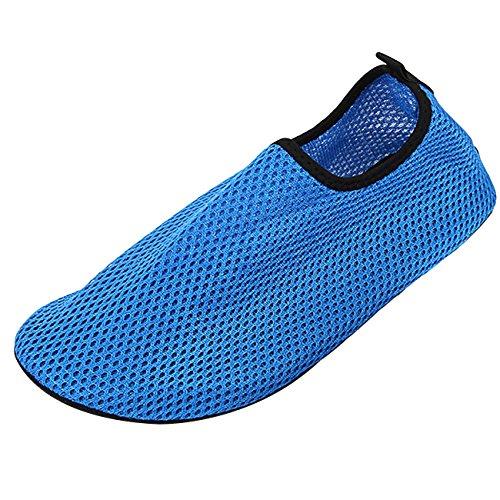 Panegy Chaussure pour Sport Aquatique Chaussons dEau Respirant - Chaussure de Plage Bain Plongée pour Piscine Beach Surf Natation Yoga Homme Femme - Couleur et Taille au Choix Bleu
